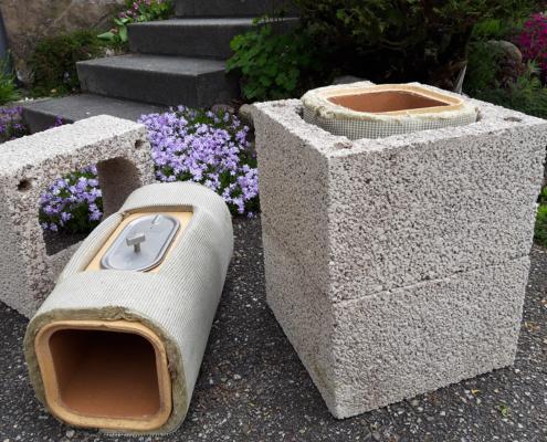 Gemauerter Kamin